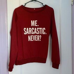 Burgundy Sweatshirt (NWOT)